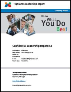 leadership assessment report cover