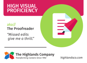 high visual proficiency natural ability