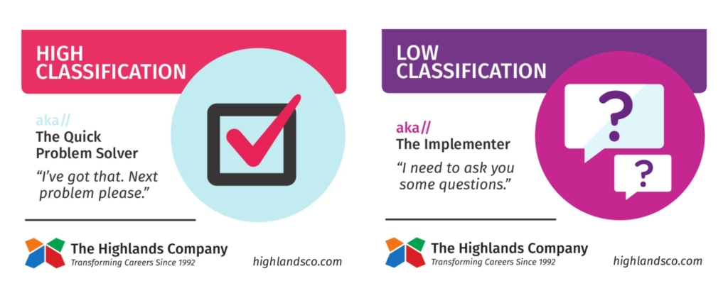 high and low classification abilities